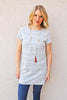 Grey Stripe Easy Dress
