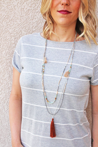 Nakamol Tassel Layer Necklace