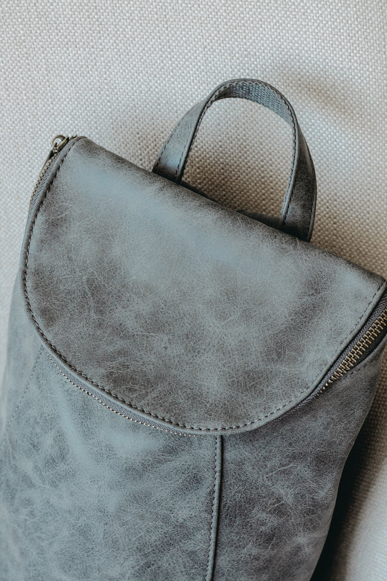 Grey Alyssa Distressed Backpack
