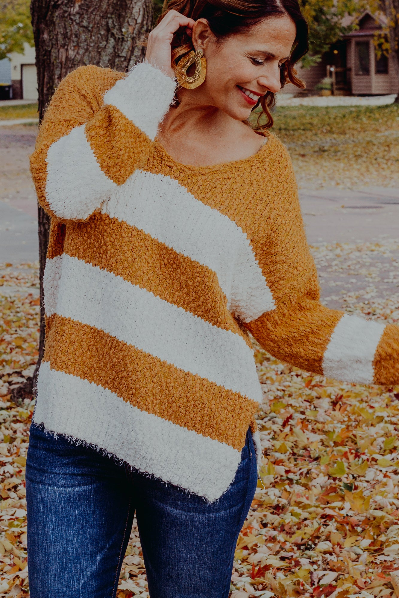 Hot Cider Striped Sweater