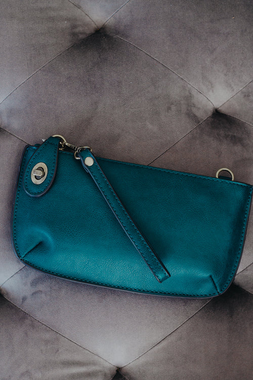Dark Teal Mini Crossbody Wristlet