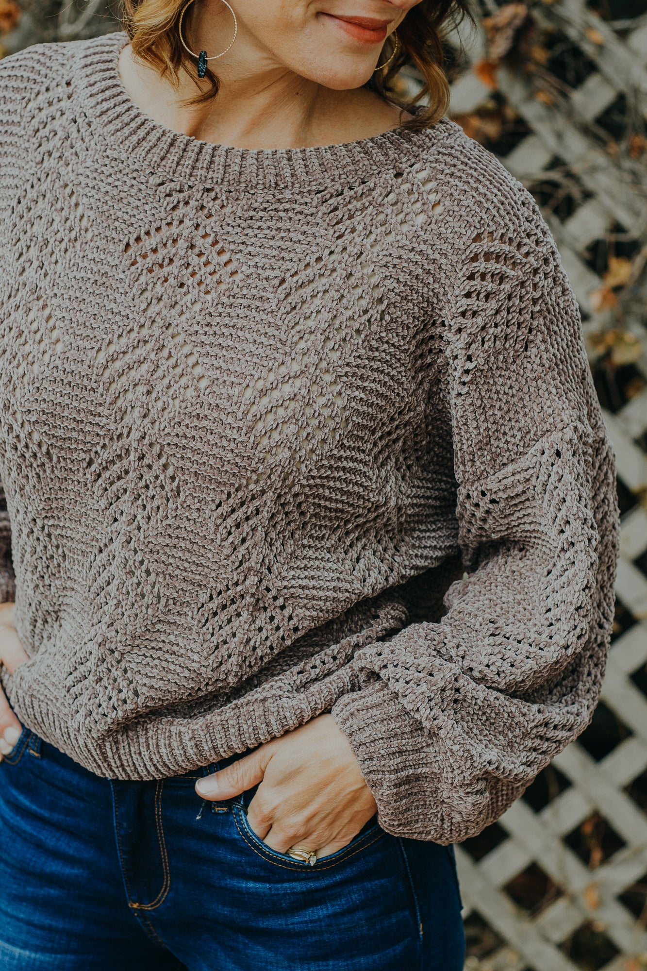 Cappuccino Weaved Sweater