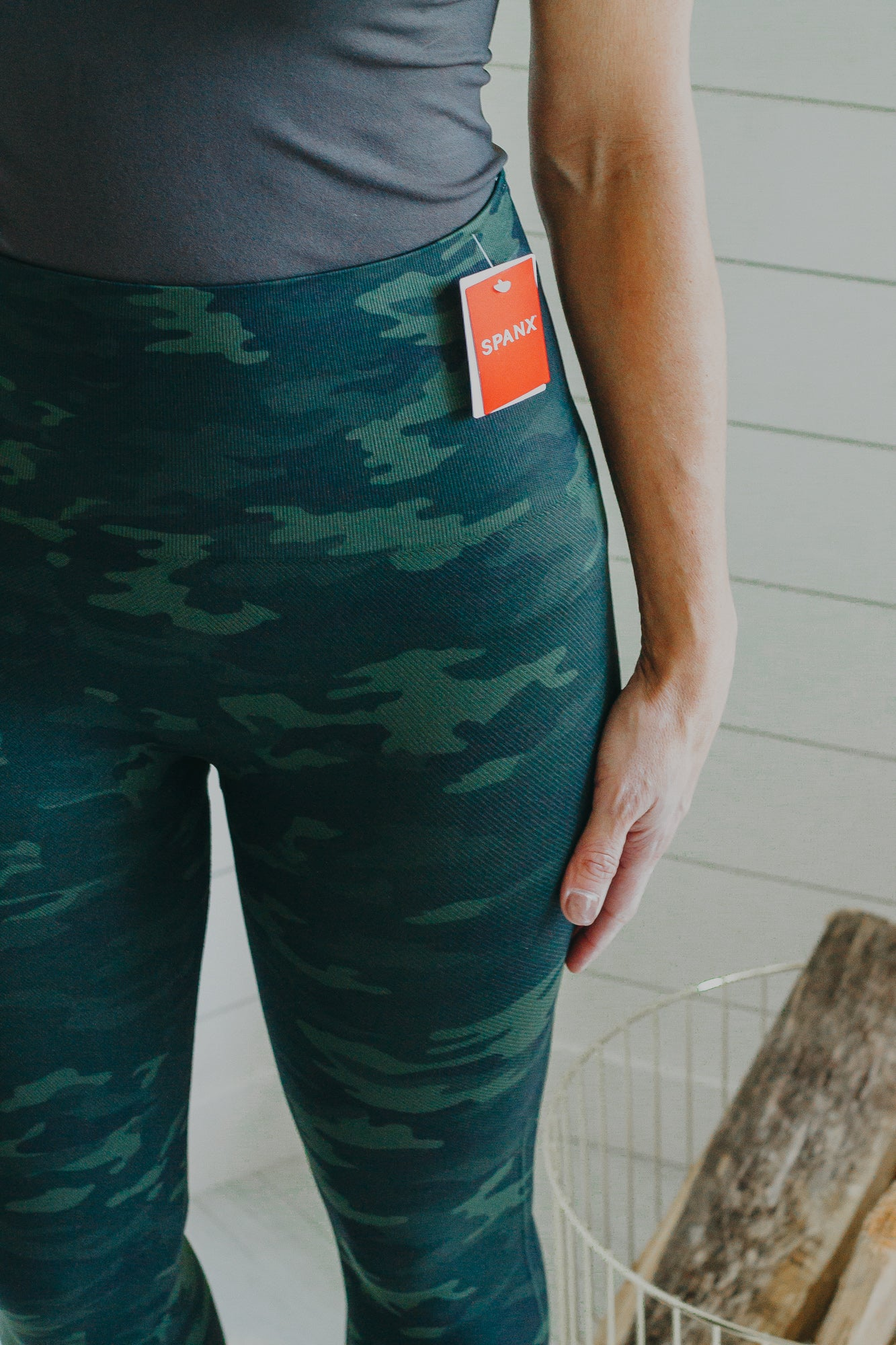 SPANX Look At Me Now Leggings *Green Camo