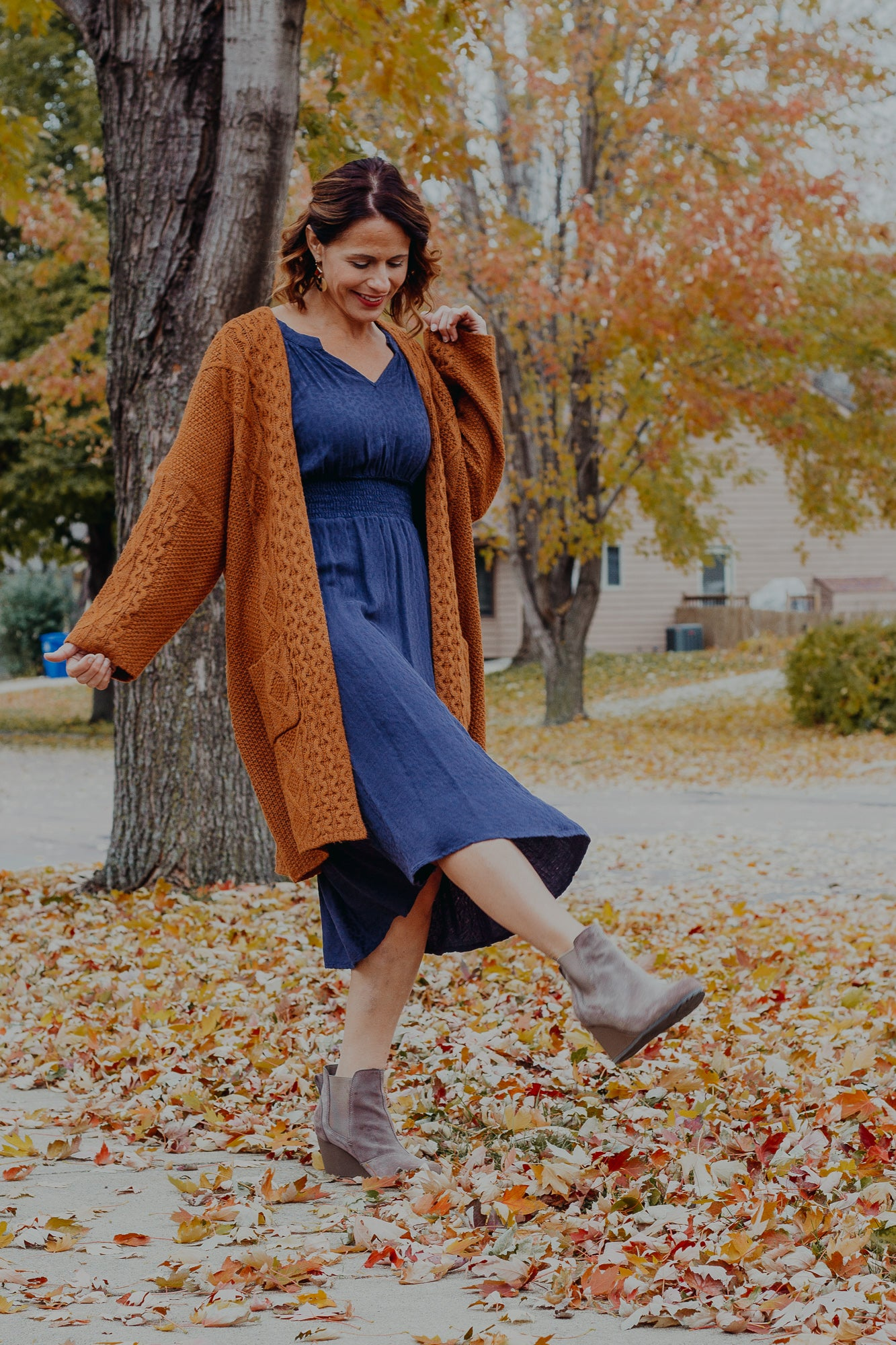 Crisp Days Camel Cardigan