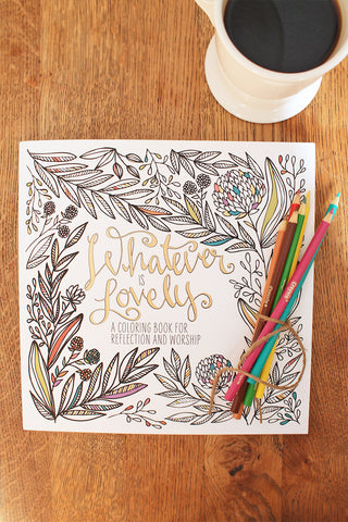 Whatever is Lovely Adult Coloring Book Set