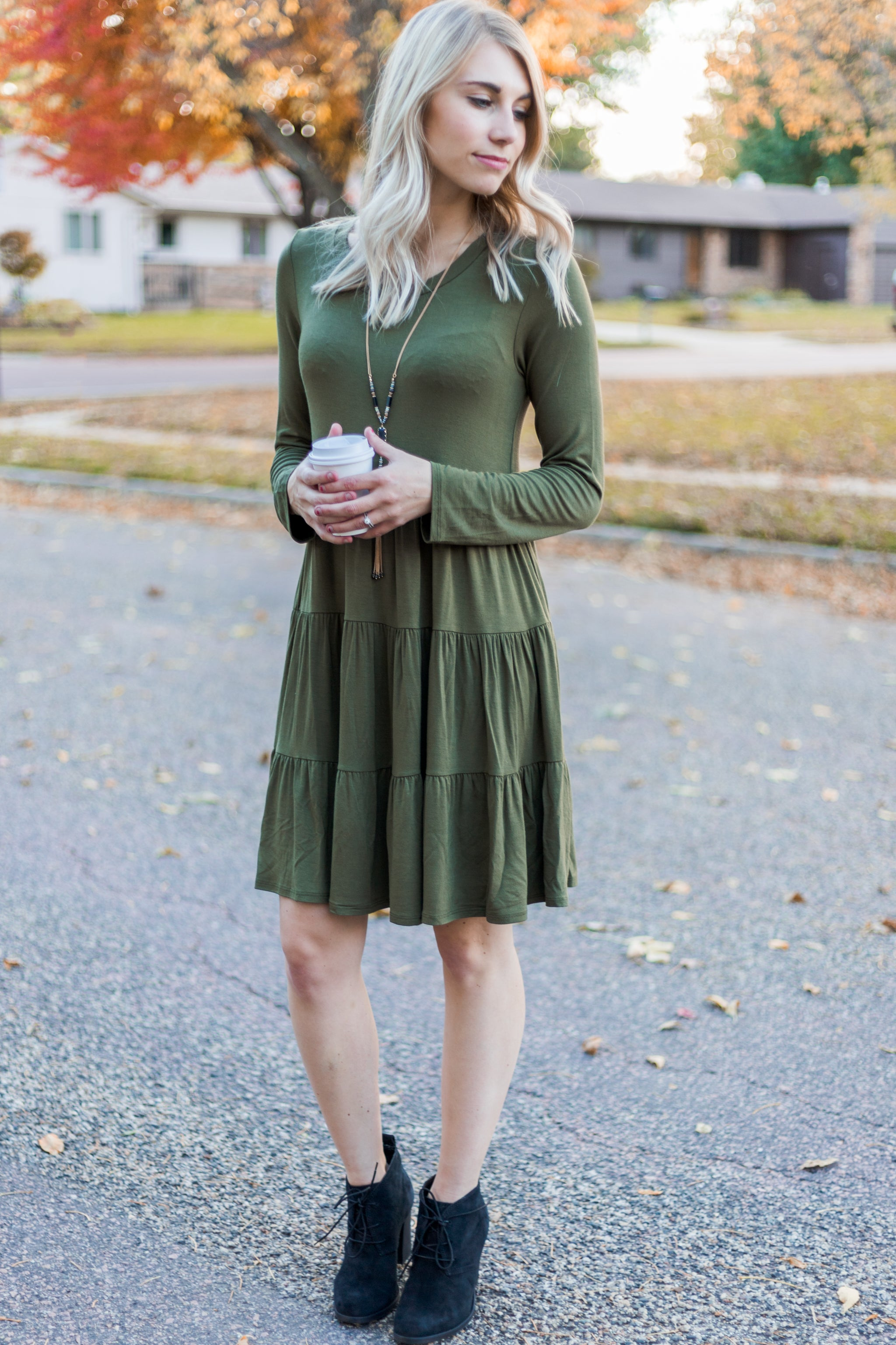 Crisp Leaves Dress