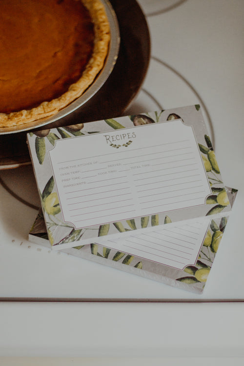 Olive Recipe Cards