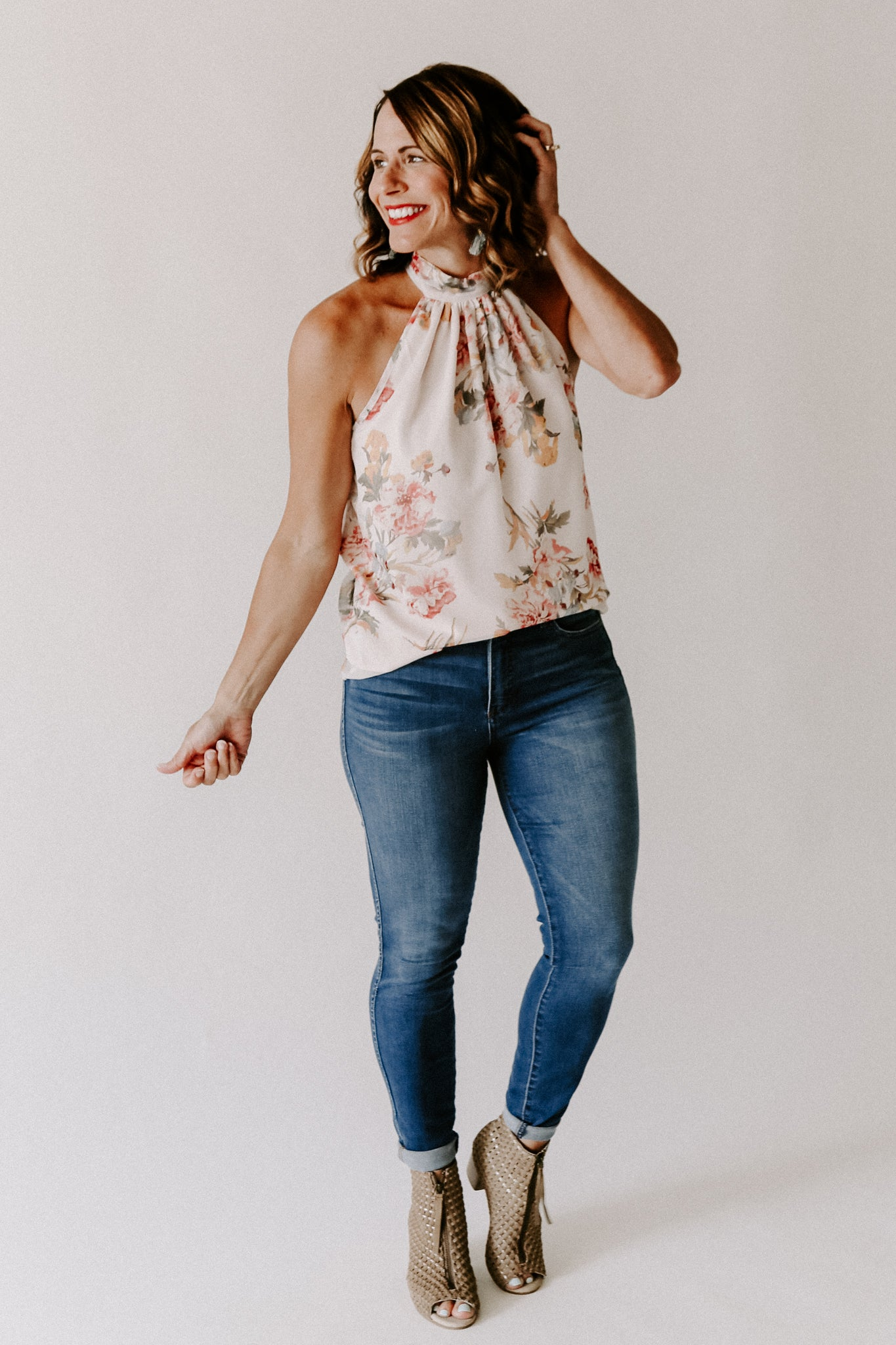 Bishop + Young Floral Tie Neck Top