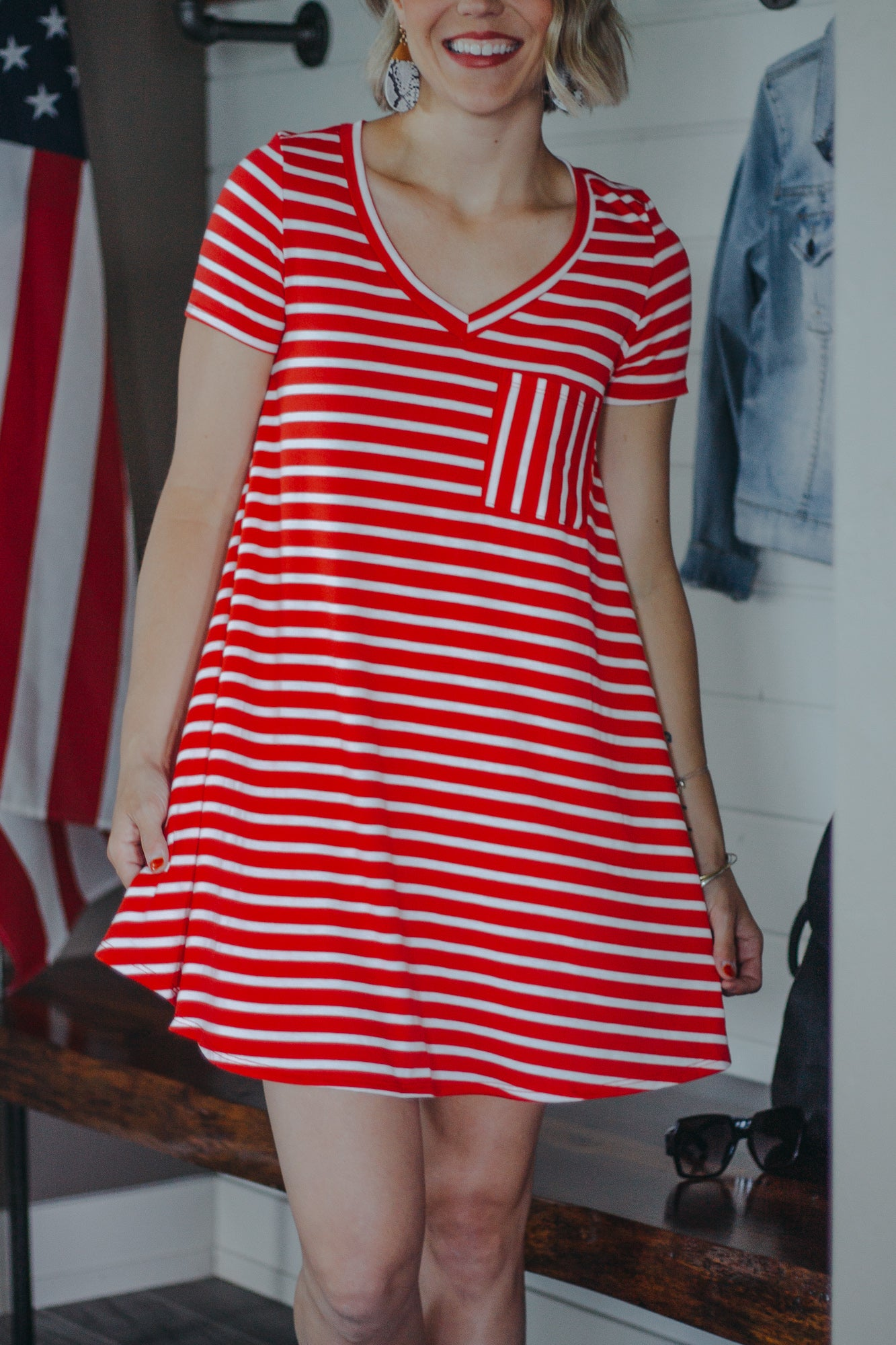 Rockin Red Stripe Dress