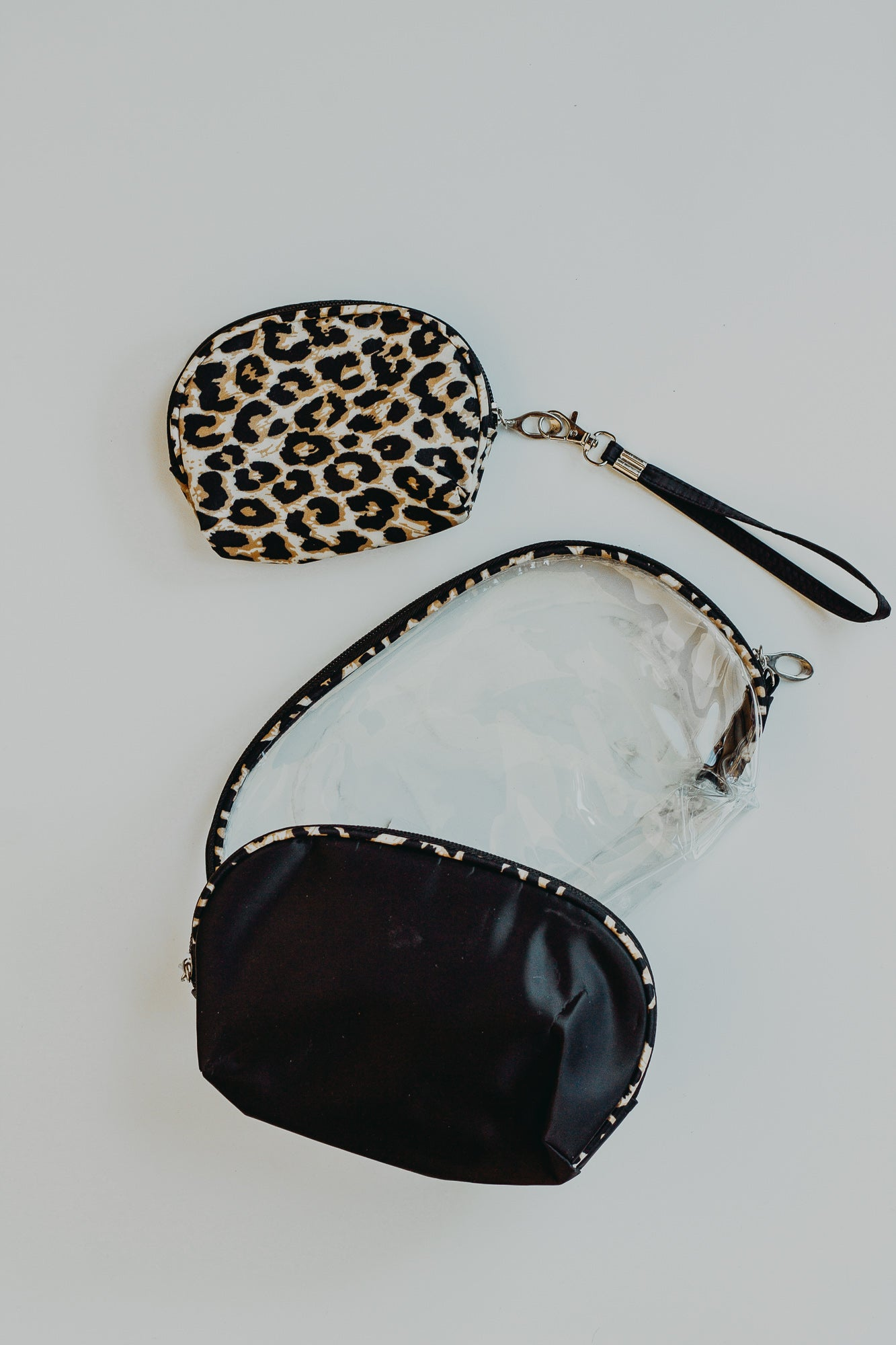 Leopard Clear Cosmetic Bag