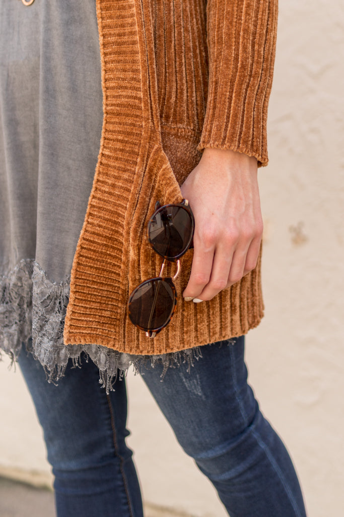 Honey Dew Rust Cardigan