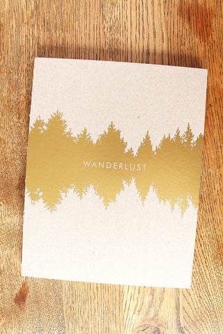 Wanderlust Gold Foil Journal