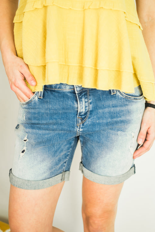 Pixie Mid Ripped Vintage Short