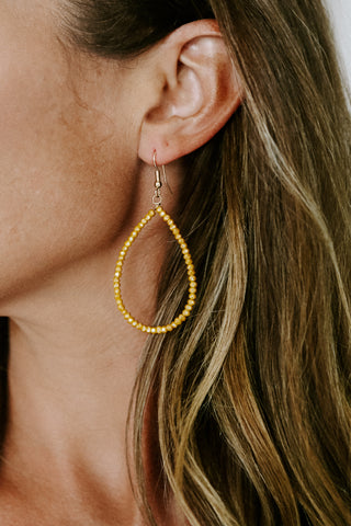 Raffia Half Wrapped Teardrop Earring