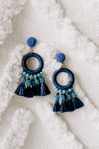 Nakamol Blue/Black Tortoise Earring