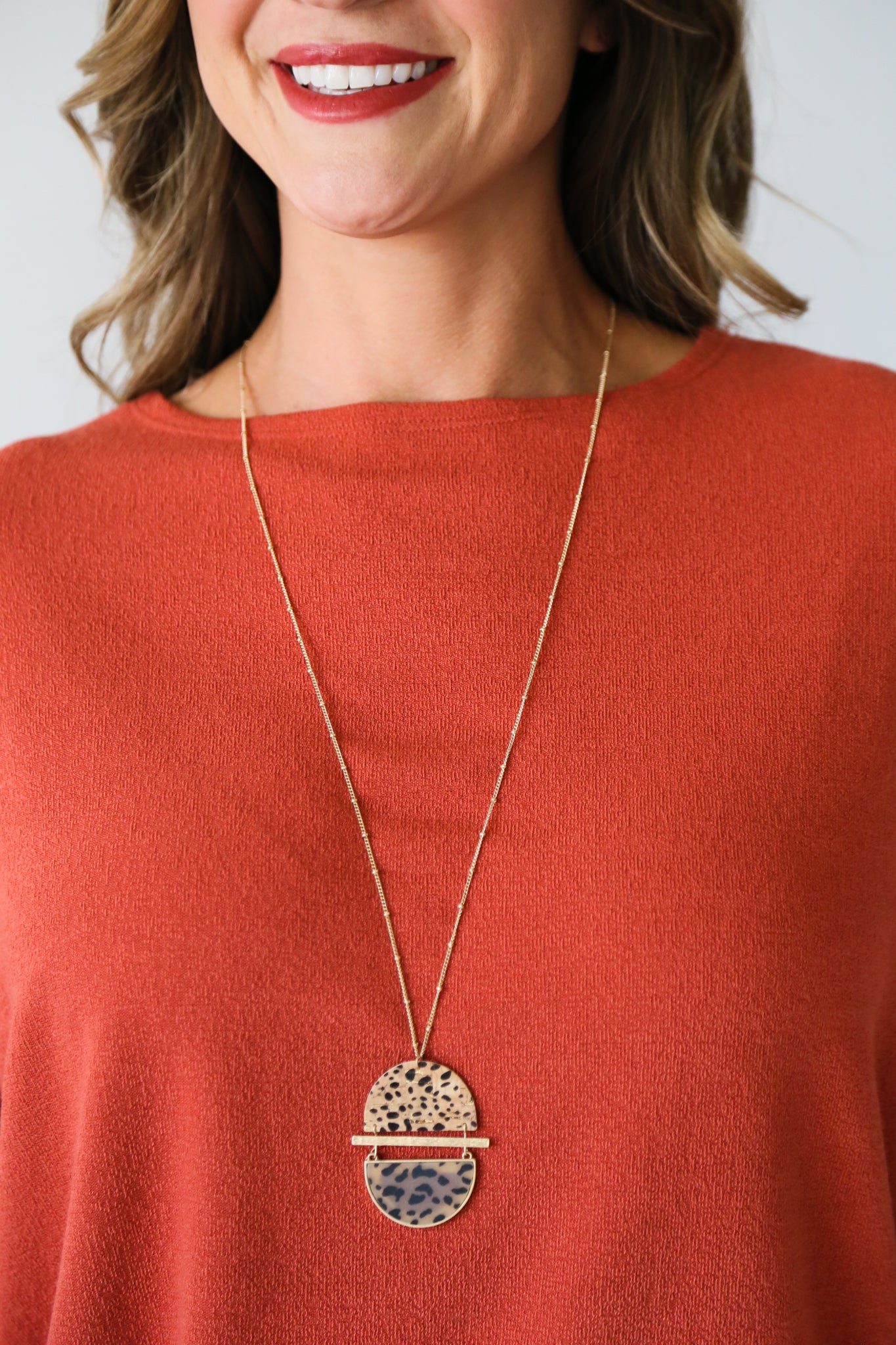 Spotted Cork Necklace