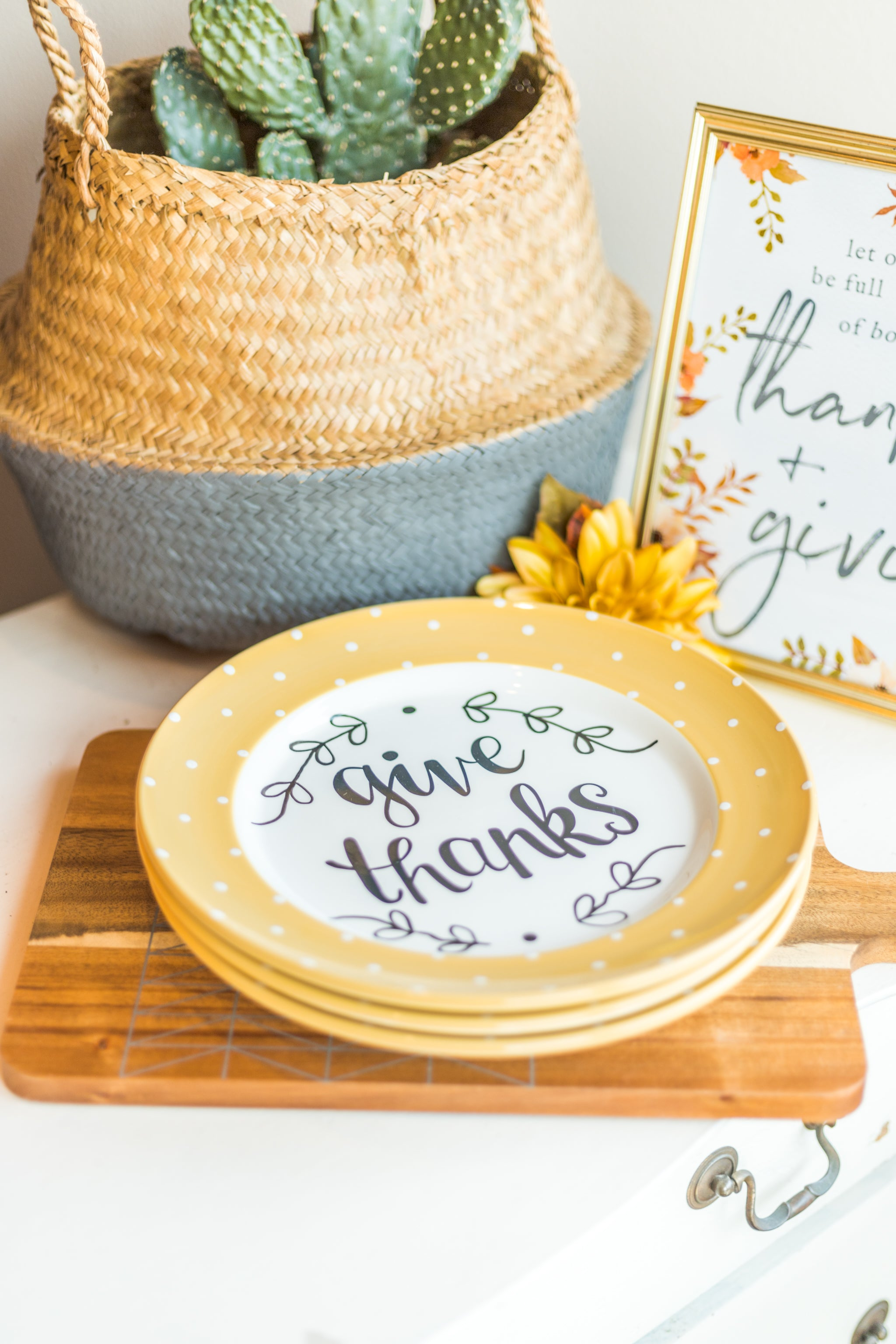 "Give Thanks 11"" Plate"