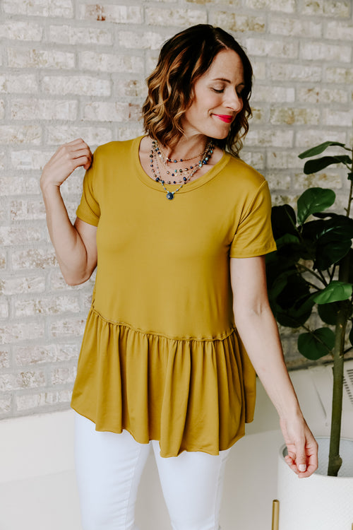 Eleanor Mustard Top