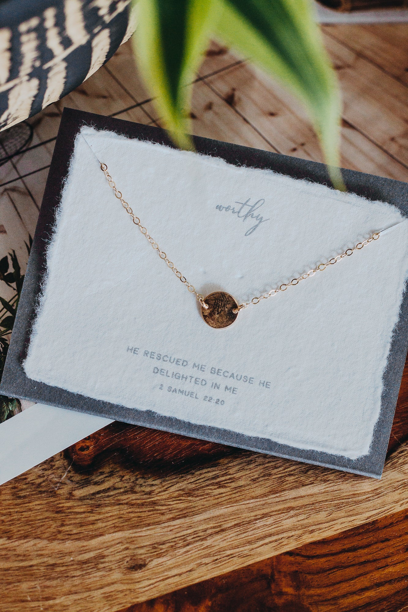 "Worthy 16"" Necklace *Gold"