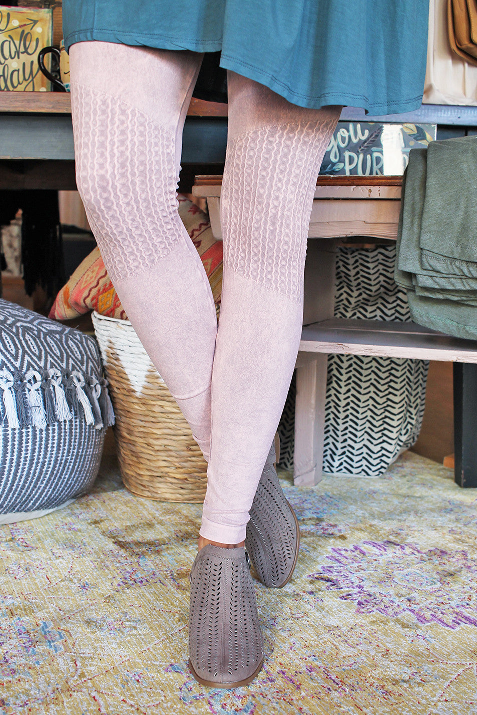 *BESTSELLER* Vintage Knee Shirring Legging