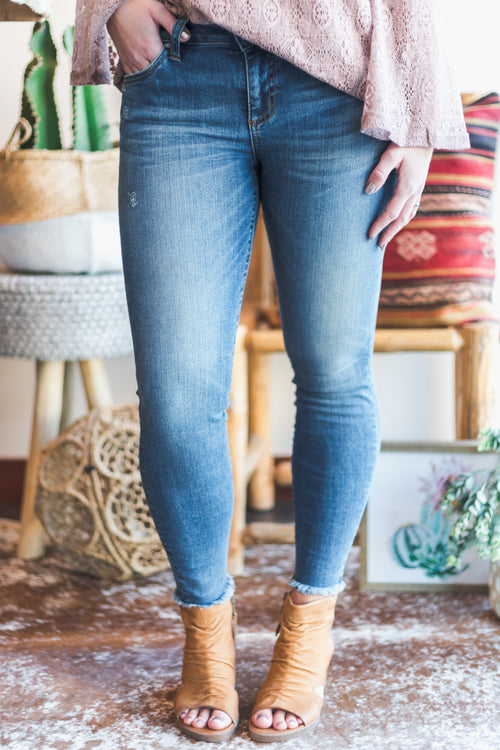 KUT Guileless Connie Fray Denim