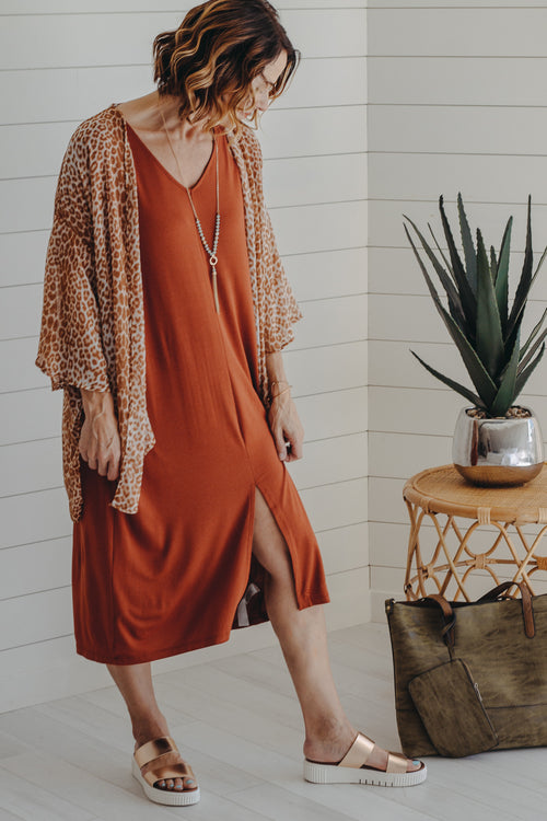Rikita Rust Dress