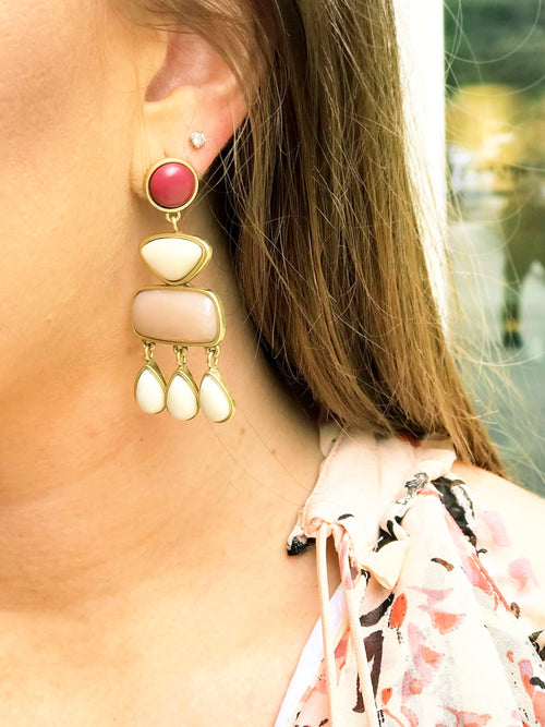 Lucky Stone Statement Earring