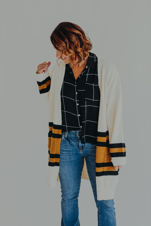 Winsten Stripe Cardigan