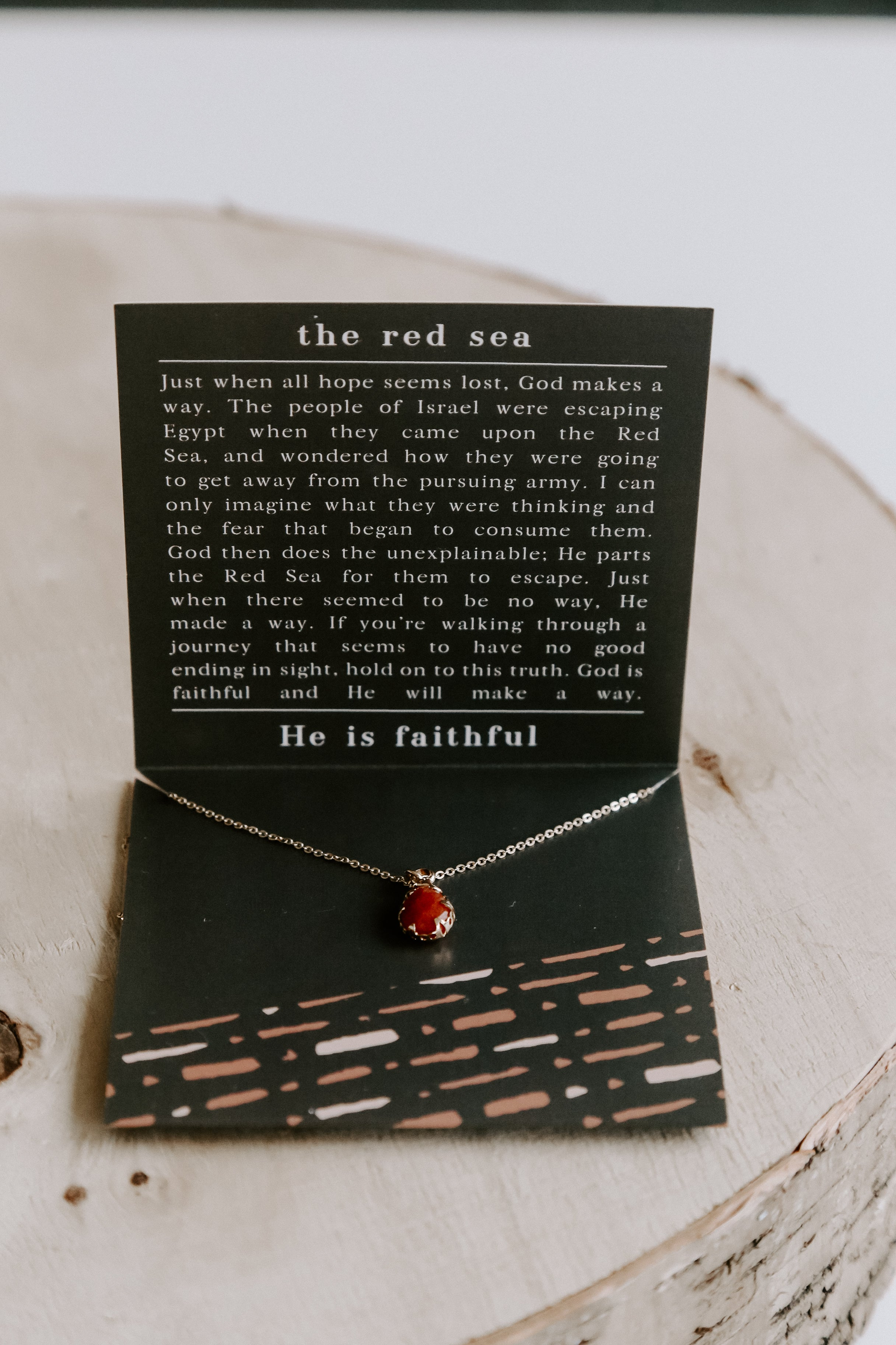 "The Red Sea Necklace 18"" *Gold"