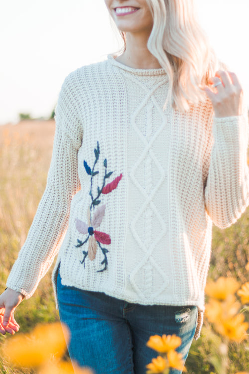 Willow Embroidered Sweater