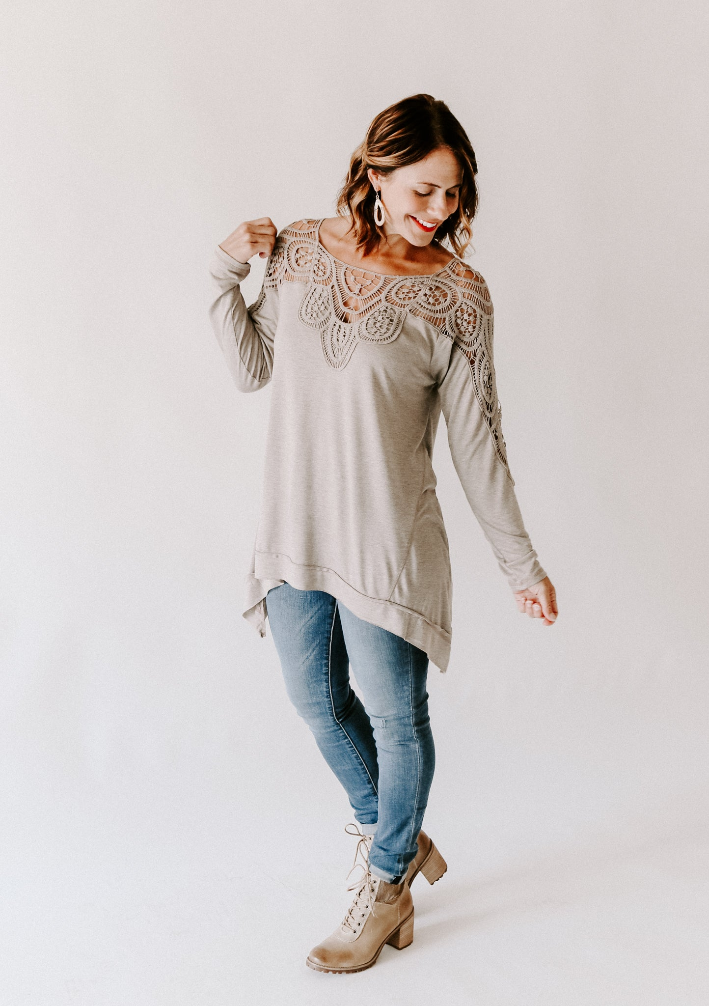 Oversized Mixed Jersey Top