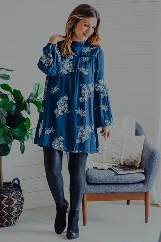 Holiday Party Printed Tunic