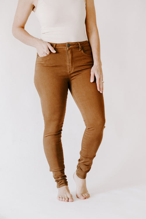 Mia High Rise Toothpick Skinny *Whiskey