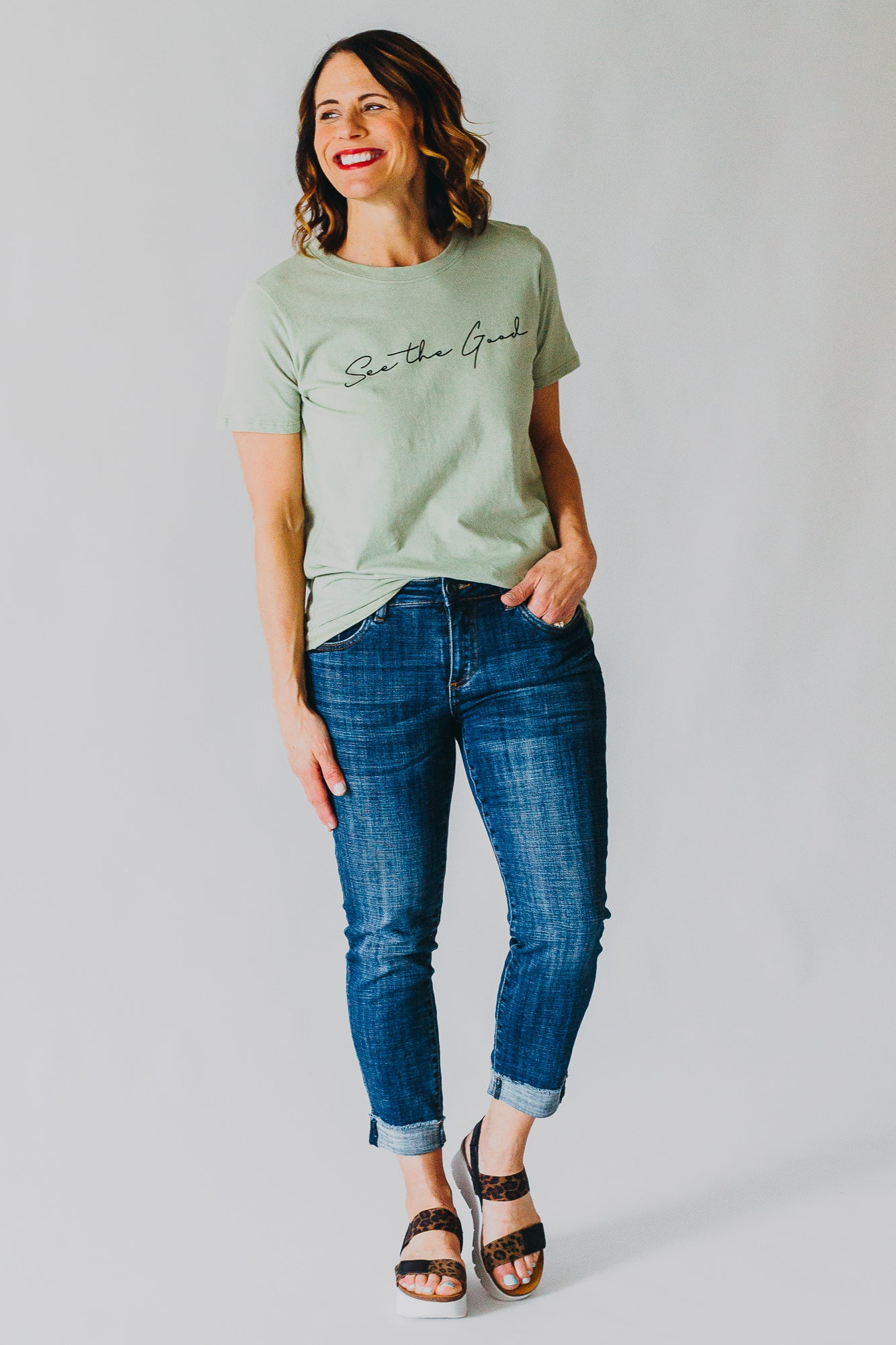See the Good Graphic Tee *Sage