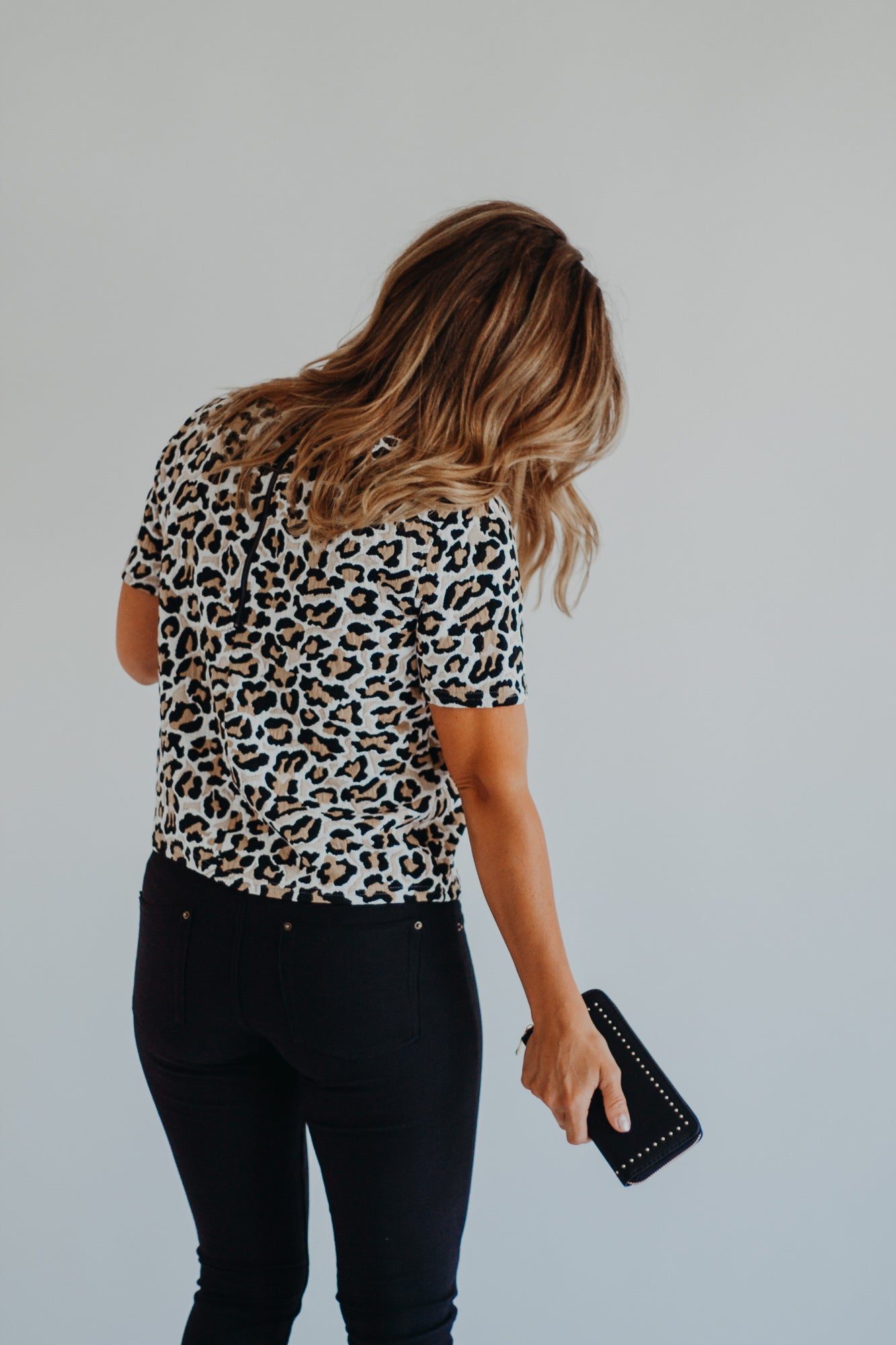 Tan Leopard Knit Blouse
