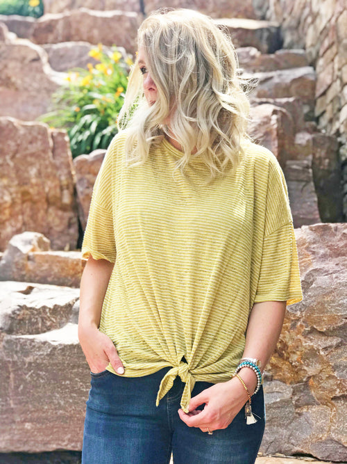 Reese Yellow Twist Top