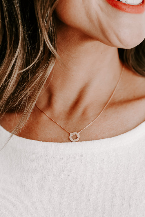 Cut Out Circle Necklace *Rose Gold