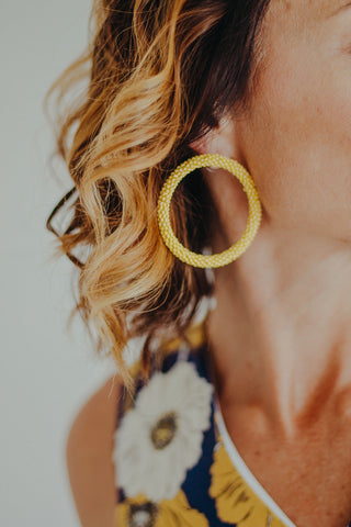 Diadem Dangle Earring *Mustard