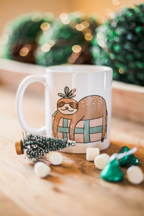 Sloth Holiday Mug