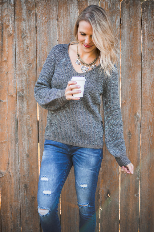 Tinsel Gunmetal Sweater