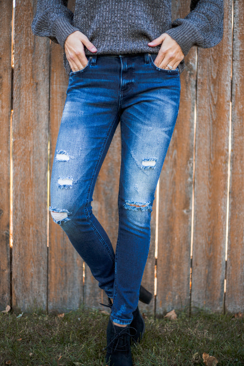 Miss Me Distressed Skinny Denim