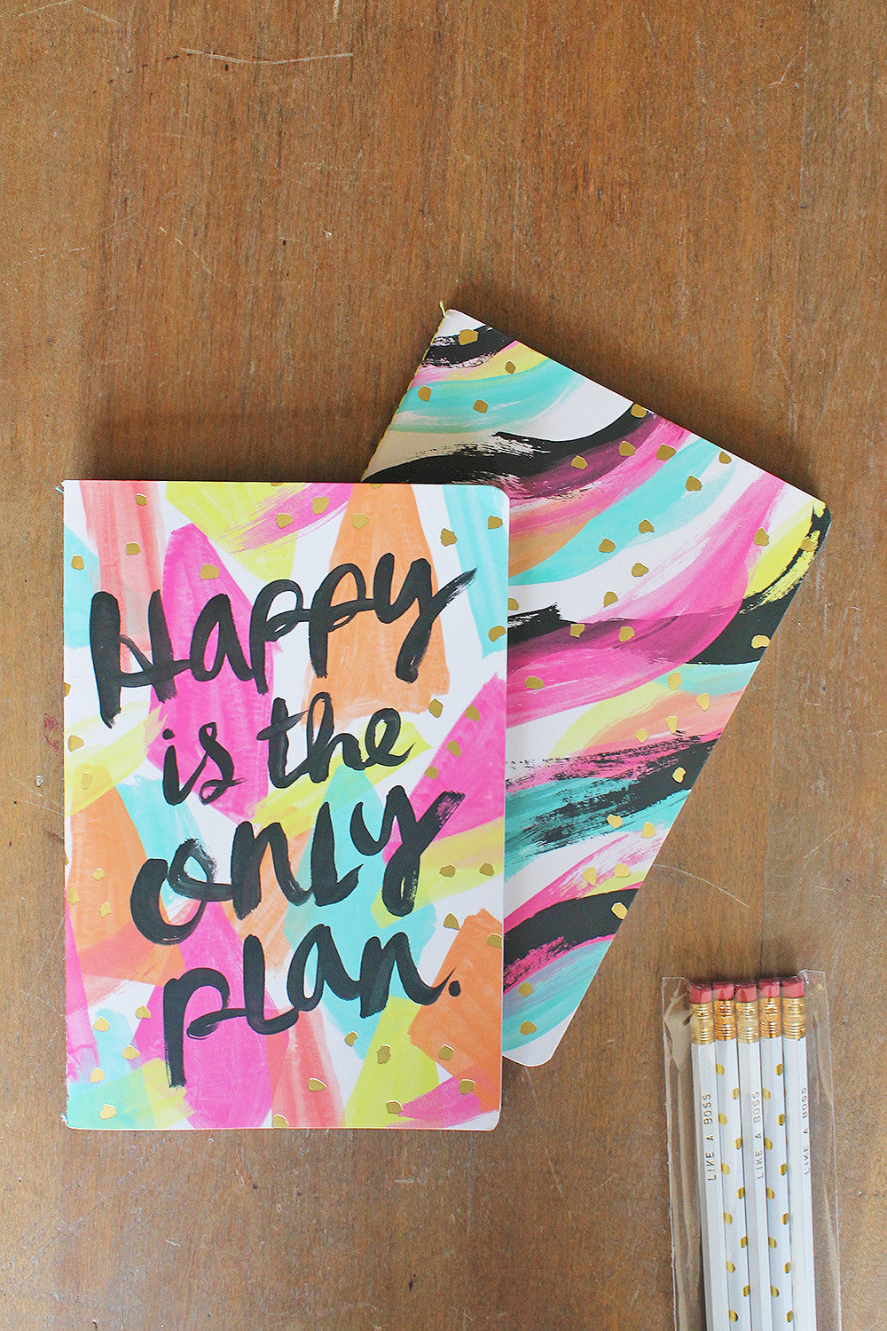 Happy is the Only Plan 2 Pack Notebook