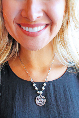 Saved by Grace Pearl Necklace