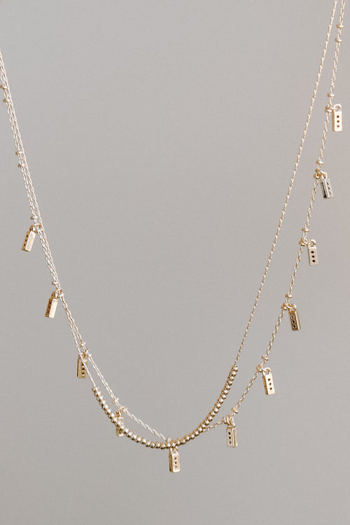 Multi Mini Bar Layer Necklace