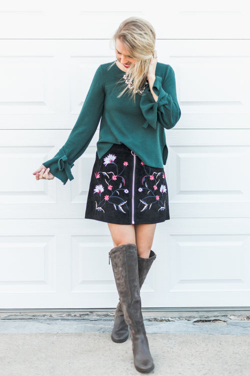 Woodstock Embroidered Skirt