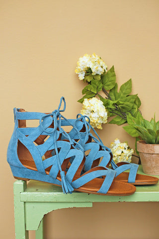 *NEW!* Blue Saturate Tie-Up Sandal