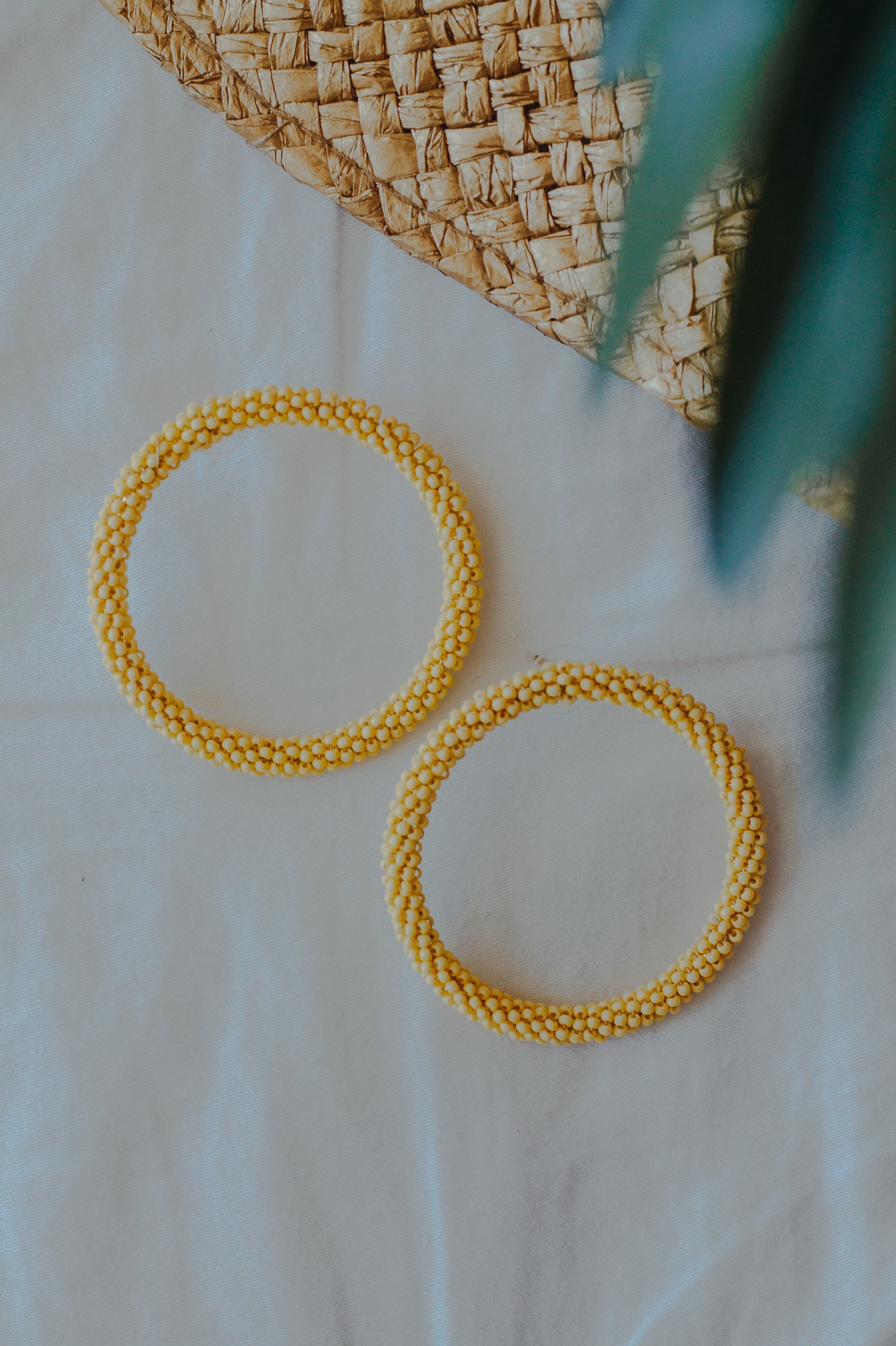 Delilah Yellow Earrings