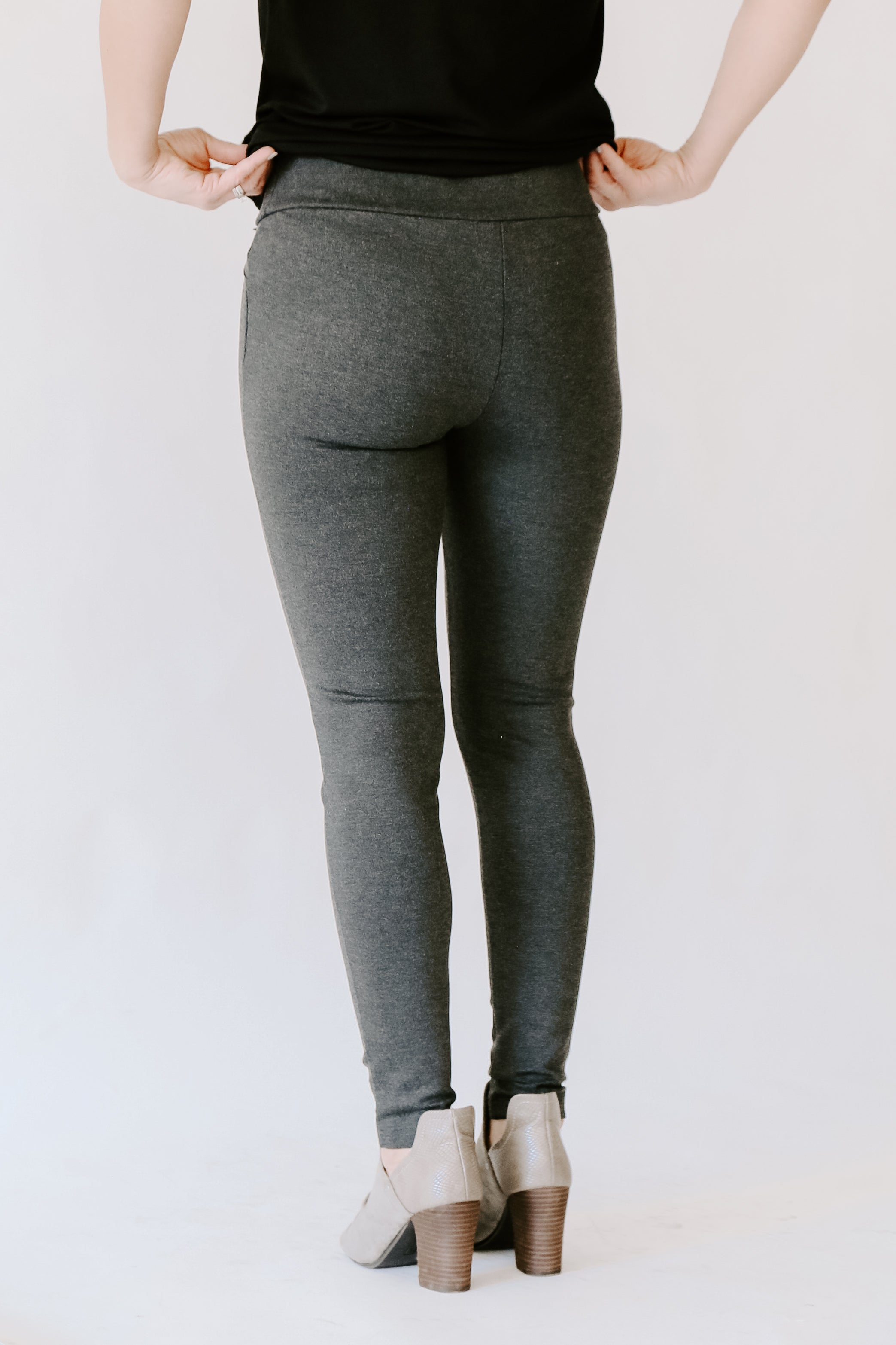 Melange Black Legging