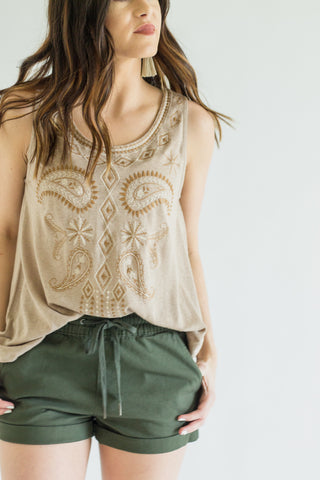THML Havana Embroidered Top