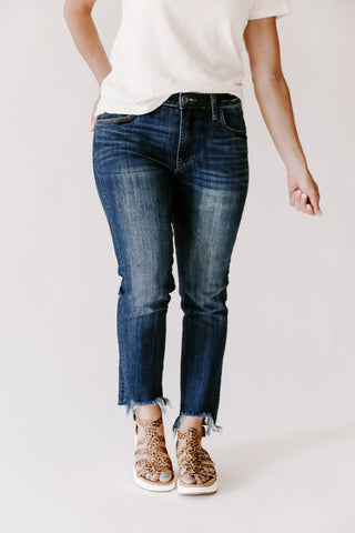 Dex Zoe High Rise Straight Leg Denim